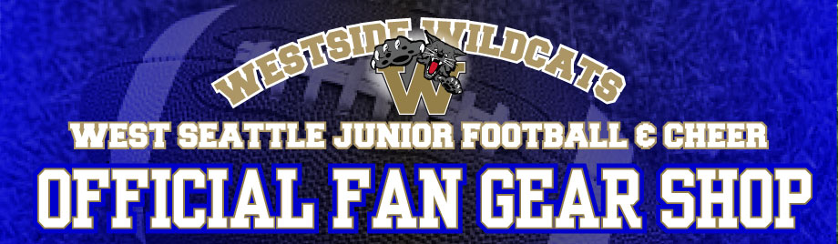 West Seattle Jr Football & Cheer Official Fan Gear Store Custom Shirts & Apparel