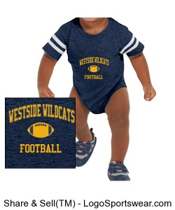 Infant Football Bodysuit Design Zoom